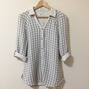 Anthropologie Tops - Anthropologie Saturday Sunday button down flannel